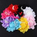 8pcs/pack Multicolor Baby Girl Pearl Rose Flower Headdress Hair Band headband
