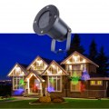 Outdoor Waterproof Dynamic LED Christmas Pattern Projection Lamp Black Color UK