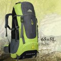 65L + 5L High Capacity Backpack Water-resistant Hiking Backpacking Trekking Bags