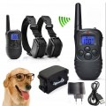 300M LCD Electric Shock Pet Dog Training Remote E-Collar Anti-Bark For 1/2 Dog