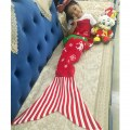 Christmas Knitting Mermaid Sofa Covered Blanket Handmade Knitted Soft Sofa