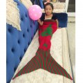 Christmas tree Elk Knitting Mermaid Sofa Covered Blanket Handmade Knitted Sofa