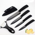 Black Blade Ceramic K nife Five Set Cutlery K nife Block Set ABS Non slip Handle