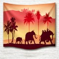 Fashion silhouette elephant pattern tapestry Sofa Bedspread Bedroom Living Room