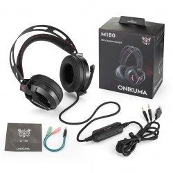 ONIKUMA M180 Professional 3.5mm Interface Stereo Wire Control Game Headset