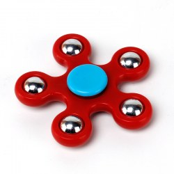 Creative EDC Round Five Corner Finger Spinner Steel Bearing For ADHD Relase Anxiety Stress ABS Toy