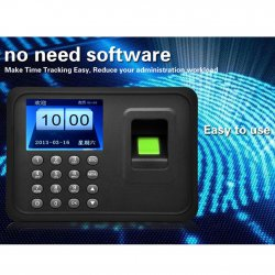 "Fingerprint Attendance Machine A6 2.4"" TFT Fingerprint Time Attendance Clock"