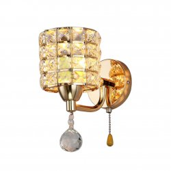 Modern Crystal Wall Light Aisle/Bedside Lamp Sconce Lighting Fixture Fitting