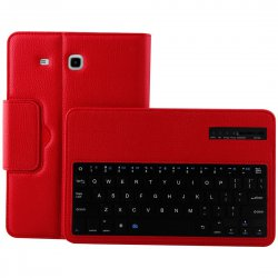 Bluetooth Detachable Keyboard For SAMSUNG Galaxy Tab E 9.6'' T560 ABS Material Red
