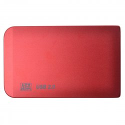 2.5 Inches USB 2.0 SATA Portable Hard Disk Enclosure HDD Aluminum Shell Box No Screw Need Red