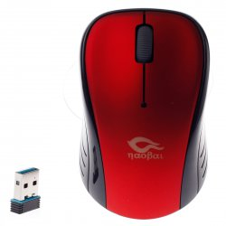 2.4GHz Wireless Mouse ABS Red