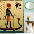 Ancient God Sun Egyptian Faith Cultural Art Polyester Waterproof Shower Curtain
