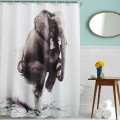 "Elephant Bathroom Waterproof Polyester Fabric Shower Curtain 71"" x 71"" w/12 Hook"