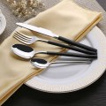 New Kitchen 4 Piece Flatware Cutlery Set Stainless Steel Set of One Silver Color