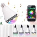 Bluetooth Control LED Light Bulb Speaker Smart Music Audio Speaker Bulb Lights