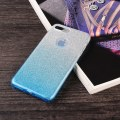 Back Cover Gradient Color Glittery TPU PC Phone Case for Apple iPhone 7 Plus