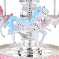 New Musical Kids LED Dome Horse Carousel Music Box Toy Clockwork Christmas Gifts