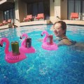 HH Cute Flamingo Floating Inflatable Drink Coke Can Cup Holder Pool Bath Toy