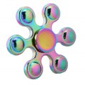 Colorful Rainbow Six Angle Hand Spinners Metal Fidget Spinner For Autism and ADHD Spiner Tri Finger Toy