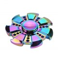 Wheel Shape Fidget Spinner for ADD ADHD Anxiety Autism People Finger Hand Toy Gyro Metal Zinc Alloy Rainbow Color