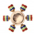 Six Corner 6 Rainbow Fidget Spinner Metal Finger Spinner Hand Spinner Brass Metal Autism Anti Relieve Stress Toy Spinner