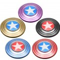 5 Colors American Captain Style Metal Finger Stress Spinner EDC Captain High Quality Toy