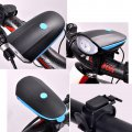 Electronic Horn Mountain Bike Headlights Super Bright Bike Light Set with Horn