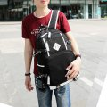 Fashion Unisex Dual College Wind Canvas Shoulder Bag Schoolbags Leisure Package