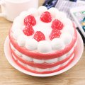 Unpacking PU Material Fruit Bread Cake Strawberry Cake Toy For Play One Piece