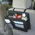 Car Seat Back Travel Storage Bag With Tablet Holder And Backseat Protector