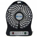 830 Desktop Fan USB Charging&Lithium Battery Power Supply 3 Speeds Mini Portable Fan