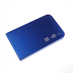 2.5 inch mini USB 2.0 HDD Enclosure, Mobile Hard Disk Box, Blue