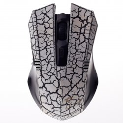 Chap Shell 5 Keys Wired Game Mouse White with Black