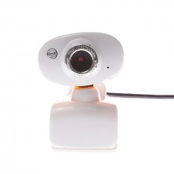 Computer Camera White Clip-on base Golden