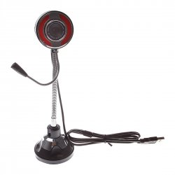 Computer camera, Hose adjuable with Microphone Sucker base, Red