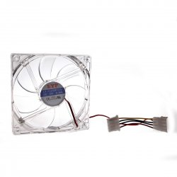 12 Centimetre With Light Case Power 4 Pin Heat Cooler Fan Transparent