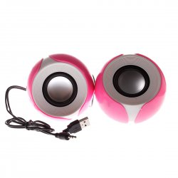 Computer wired speaker, Petal Shape, USB powerd, Pink