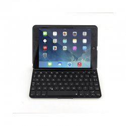 - aluminium alloy lighting bluetooth Keyboard and holster for ipad mini/MINI2Black
