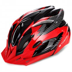 Outdoor Goods Protective Helmet Elastic Helmet Unibody Cycling Helmet  Red