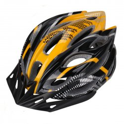 Outdoor Goods Protective Helmet Elastic Helmet Unibody Cycling Helmet  Black with Yellow
