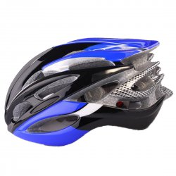 Outdoor Goods Protective Helmet Safety Helmet Unibody Cycling Helmet  Blue