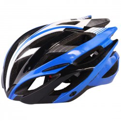 Outdoor Goods Protective Helmet Safety Helmet Unibody Cycling Helmet  Black with Blue