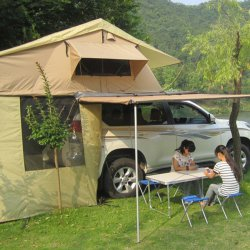 Outdoor Appliance Rooftop Tent+Rear Tent+Side Tent 1.4m Instant Tent 420D Oxford Cloth Offline Deal Only