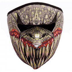 Outdoor Cycling Mask Wind Resistant Air Permeable Full Face Mask Big Mouth