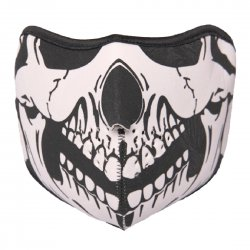 Outdoor Cycling Mask Wind Resistant Air Permeable Half Face Mask Dark Ghost