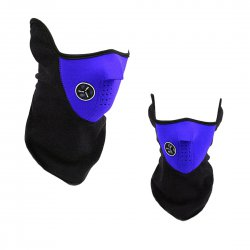 Outdoor Cycling Mask Winter Protection Cold Proof Air Permeable Half Face Mask Blue