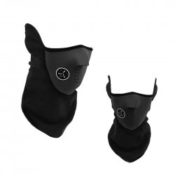 Outdoor Cycling Mask Winter Protection Cold Proof Air Permeable Half Face Mask Black