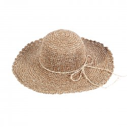 Lady Outdoor Summer Straw Hat Travel Beach Cap  Skin Color