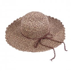 Lady Outdoor Summer Straw Hat Travel Beach Cap  Khaki
