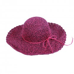Lady Outdoor Summer Straw Hat Travel Beach Cap  Rose Red
